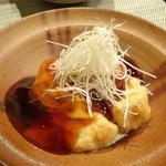 禅紫 - 自家製豆腐(揚げ出しゆず餡かけ)