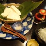 禅紫 - 自家製豆腐(冷奴)