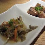 鳳雛 - 稚鮎の南蛮漬け&鰹のつくだ煮