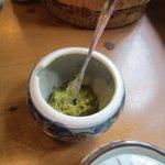 松屋 - テーブルにはゆず胡椒も置いてあったので今回はゆず胡椒でいただいてみました。