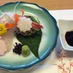 和食・中華 桂翠 - 鯛と甘海老のお造り