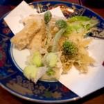 Soba & BAR An - 春野菜の天ぷら