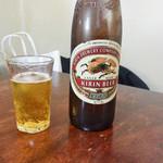 牧野お好み焼 - まずはビールで乾杯♪