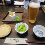 光林 - 「胡麻豆腐」・「ビール」・「お通し」