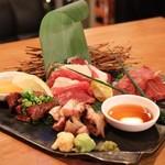 肉の寿司×焼鳥 okitaya - 肉造り盛り合わせ(1480円)