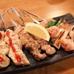 肉の寿司×焼鳥 okitaya - ねぎま(1本200円) せせり(1本180円) ムネ肉梅肉(1本180円