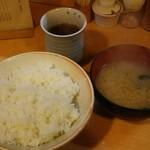 81487786 - 定食のご飯と味噌汁