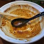 辛口炙り肉ソバ ひるドラ - 完食