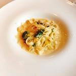 アガノ - Cコース 牡蠣と深谷ねぎと小松菜のクリームソース ハーフサイズ