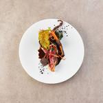 フレンチレストラン ソルト白金 - 料理写真:ピジョンラミエの葡萄の葉包み焼き