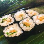 健寿司 - 赤貝のひも三つ葉巻。わがままを聞いてくれました♡キュウリより三つ葉が好みなの♡