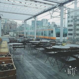 RESTAURANT PLATINUM FISH マーチエキュート神田万世橋店 - 電車が見えるの楽しい