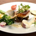 ある日の魚料理『ヒラメのポワレ』