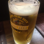 たこやき 刀鍛冶 - 生ビールセット¥1000のビール