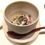 81503789 - 温菜 蛸と蓮根と里芋のスフォルマート♤濃厚な出汁を食べてる感じ、蛤のお出汁濃厚