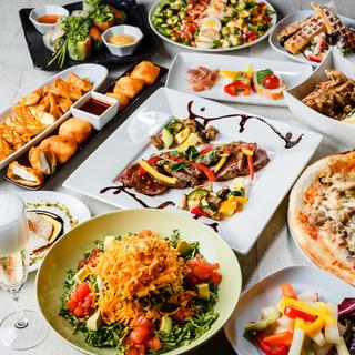 バラエティー豊かな多国籍料理でおもてなし!