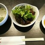 やきにく HYAKURAN - スープ、サラダ