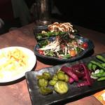 81509065 - 前菜、サラダ、チキン南蛮、フライドポテト