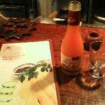海南チキンライス 夢飯 西荻窪本店 - フルーツワインで微発泡なんて洒落てるじゃないですか