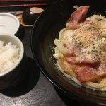 手打ちうどん 讃岐つけ麺 - 飯は普通に食べました(*'ω'*)