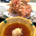 酒菜食房いち - 小えびと玉葱のかき揚げ