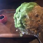 赤七屋 - 黒糖クリームきな粉と抹茶
