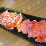 牛8 - ランチの特上焼肉セットの肉