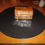 SATSUKI - ピエール・エルメ・パリのチョコ風味でナッツの入ったミルフィーユです。