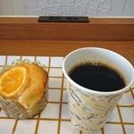 セ・ミュー - オレンジマフィン220円、コーヒー100円込