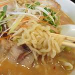 喜多方ラーメン 坂内 - 生姜味噌ラーメン(細麺をチョイス)