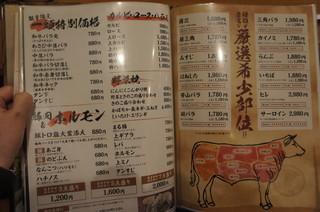 焼肉 房家 - 【メニュー】肉の部位、盛り合わせ