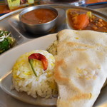 南インド家庭料理 カルナータカー - ランチBセット