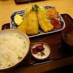 一福食堂 - 魚フライ定食 730円