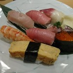 やま輝 - 土日祝限定握り2000円(他に煮物、茶碗蒸し、味噌汁付き)