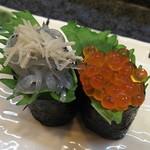 寿司奴 - 一皿380円  白魚とイクラ
