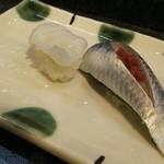 寿司奴 - 一皿380円  ミズダコとイワシ