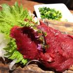 肉寿司 - 極上ヒレ刺し。
