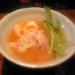 麺屋 かぶき亭 - エビ塩白湯+パクチー