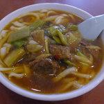8153854 - 牛バラ肉と高菜漬刀削麺(ランチ)