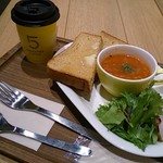 ファイブ・クロスティーズ・コーヒー - スープ&トーストセット