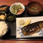 むちゃく - 塩サバ炭焼定食=650円