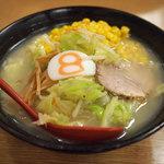 8番らーめん - 野菜ラーメン(塩)コーン増し