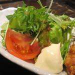 わらやき屋 - 若鶏の竜田揚げ定食