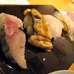ぶんろく - すべて天然にぎり鮨盛り合わせ