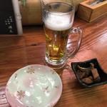 炉端焼 源太 - 生ビールとお通し