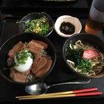 琉の介 - ラフテー丼セット780円