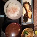 酒肴 まさむら - 黒むつの西京みそ漬け定食990円