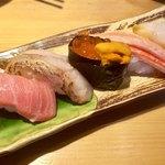 金沢回転寿司 輝らり - 加賀五種盛り1580円