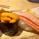 金沢回転寿司 輝らり - うにいくらとズワイ