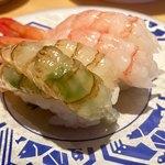 金沢回転寿司 輝らり - ガス海老と甘えび
